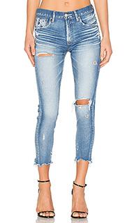 Состаренные облегающие джинсы ridgewood - Moussy
