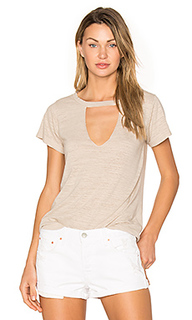 Short sleeve cut out v tee - LNA