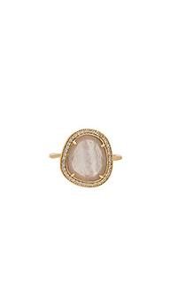 Stone slice ring - Melanie Auld