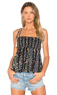Floral stripe tie top - Needle & Thread
