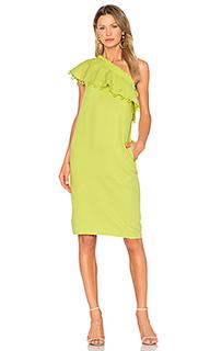 Платье с рюшами на одно плечо reina - APIECE APART