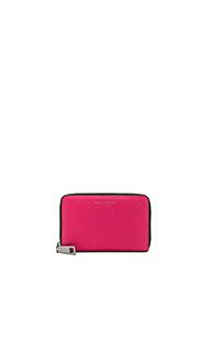 Маленький стандартный кошелек с сафьяновым верхом gotham - Marc Jacobs