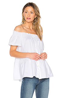 Off the shoulder button up top - Red Valentino