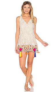 Ruffle sleeveless mini dress - HEMANT AND NANDITA