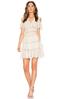 Кружевное платье с открытыми плечами eliza - Rebecca Taylor