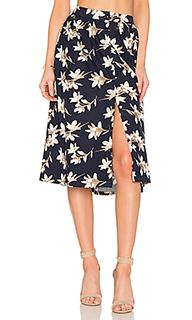 Flower print midi skirt - J.O.A.