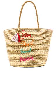 Соломенная сумка-тоут sun surf sand repeat - Rebecca Minkoff