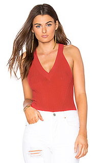 Rib sleeveless halter top - Autumn Cashmere