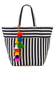 Valerie multi tassel pom tote bag - JADEtribe