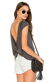 Label cowl back tee - RVCA