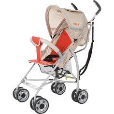 Коляска-трость Hola, Baby Care, серый/оранжевый