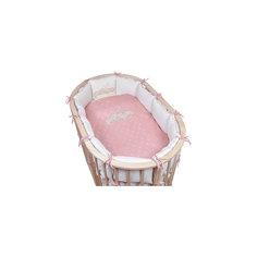 Постельное белье для овальной кроватки Звездочка, 6 пред., Pituso, розовый