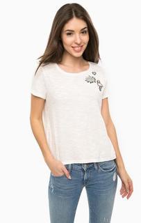 Хлопковая футболка с нашивками Tom Tailor Denim