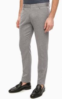 Хлопковые брюки с принтом на пуговицах Antony Morato