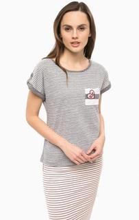 Трикотажная футболка с карманом Vero Moda