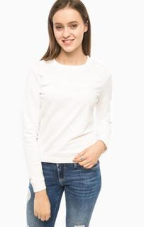 Белый свитшот с вышивкой Tom Tailor Denim
