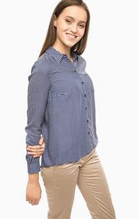 Рубашка в полоску с нагрудным карманом More & More