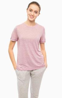 Фиолетовая футболка в полоску Lacoste