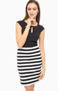 Платье без рукавов с юбкой в полоску More & More