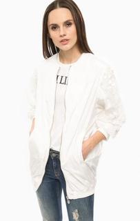Белая куртка с отделкой пайетками Fornarina