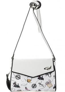 Кожаная сумка с откидным клапаном Curanni
