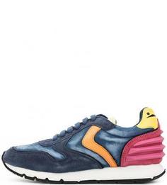 Синие кроссовки с разноцветными вставками Voile Blanche