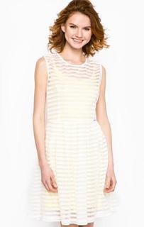 Белое платье со съемной подкладкой Maison Espin