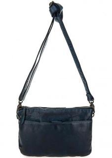 Синяя кожаная сумка через плечо Gianni Conti