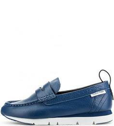Синие мокасины из натуральной кожи Calvin Klein Jeans