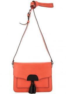 Кожаная сумка с выделкой под рептилию Gianni Conti