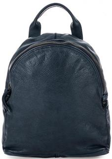 Синий рюкзак из мягкой кожи Gianni Conti