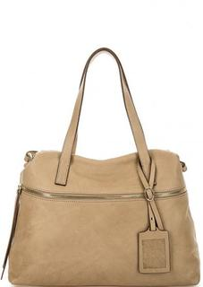 Бежевая сумка из натуральной кожи Gianni Conti