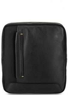 Черная сумка через плечо с одим отделом Gianni Conti