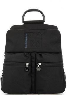 Черный текстильный рюкзак с одним отделом на молнии Mandarina Duck