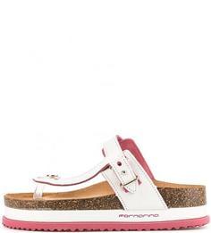 Белые сандалии на толстой подошве Fornarina