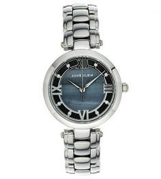 Часы с широким металлическим браслетом Anne Klein