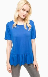 Синяя футболка из вискозы Ichi