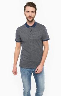 Синяя хлопковая футболка поло Antony Morato