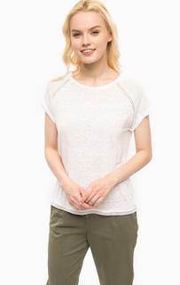 Белая льняная футболка Kocca
