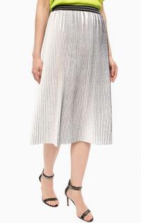 Плиссированая белая юбка на резинке Kocca