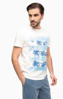 Хлопковая футболка с принтом EA7
