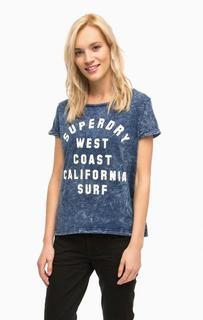 Синяя футболка с короткими рукавами Superdry