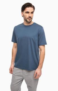 Синяя футболка с круглым вырезом Antony Morato