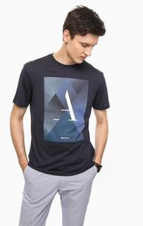 Хлопковая футболка с круглым вырезом Armani Jeans