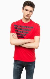 Красная футболка с принтом Armani Jeans