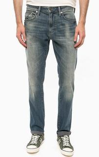 Зауженные джинсы с потертостями Mavi