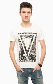 Хлопковая футболка с принтом Mavi