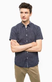 Синяя рубашка с короткими рукавами Tom Tailor Denim