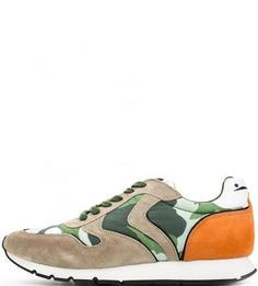 Кроссовки с камуфляжными вставками Voile Blanche
