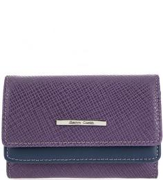 Фиолетовый кошелек из фактурной кожи Gianni Conti
